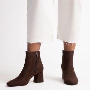 ELOQUII | Lexa Ankle Bootie Brown Wide